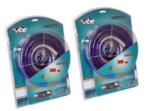 2) Lanzar AMPKIT0 5000 WATT 0/1 Gauge Amp Wiring/Wire Installation Kit + RCA