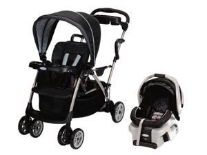Graco RoomFor2 Stand & Ride Duo Baby Stroller & SnugRide 30 Car Seat -Metropolis