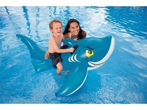 INTEX Giant Friendly Shark Inflatable Swimming Pool Ride-On Raft | 56567EP