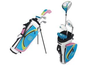 WILSON HOPE Junior Girls Complete Golf Club Set w/ Bag - Driver, 6i, PW, Putter