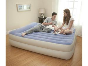 INTEX Queen Pillow Rest Airbed Air Mattress Bed with Built-In Pump | 67713E