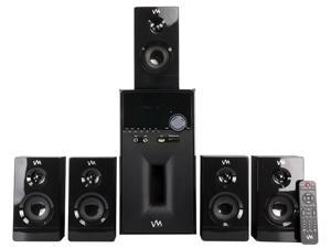 VM Audio EXMS581W 1000W 5.1 Home Multi Media Surround Sound Speakers System USB