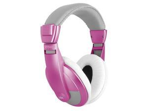 VM Audio SRHP15 Stereo Over the Ear DJ Headphones (Pink)