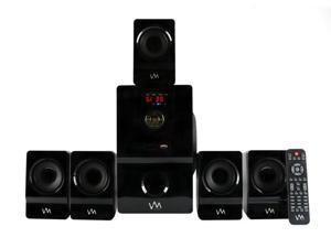 VM Audio EXMS511 600W 5.1CH Home Multimedia Surround Sound Speakers System