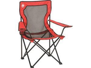 COLEMAN Broadband Camping Folding Quad Chair w/ Mesh Back & Transport Bag