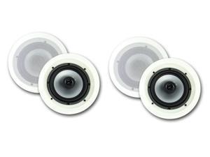 """4) VM AUDIO VMIS6 6.5"""" 300 Watt 2 Way In Ceiling/Wall Surround Home Speakers"""