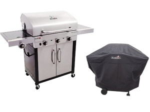 Char-Broil Performance TRU Infrared 500-Inch 3-Burner Gas Grill + Char-Broil Heavy Duty Grill Cover
