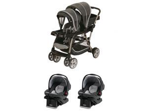 Graco Ready2Grow Click Connect LX Dual Stroller and Car Seats Travel System