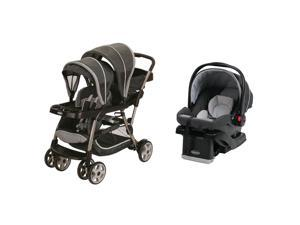 Graco Ready2Grow LX Dual Stroller & Car Seat Travel System, Glacier