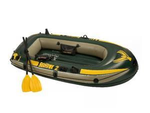 INTEX 68347EP Seahawk 2 Inflatable Lake Boat Set w/Oars & Pump