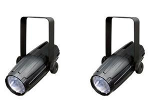 2) CHAUVET LED PINSPOT 2 High Power DJ Club Spotlights