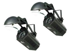 2) CHAUVET LX-10 LED MOON FLOWER LIGHT EFFECT SCANNER