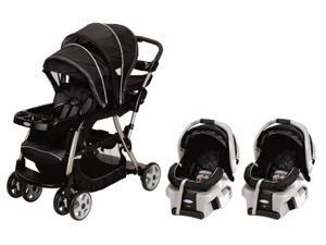 Graco Ready2Grow LX Baby Stoller & SnugRide 30 Twin Travel System