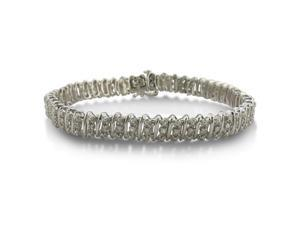 Bold Diamond Tennis Bracelet Crafted in Sterling Silver 7 inches