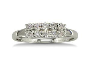 .05ct Two Row Diamond Ring in Sterling Silver