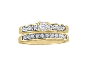1/2ct Ladies Traditional Diamond Bridal Set, 10K Yellow Gold