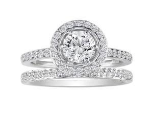 PRICE JUST REDUCED! Popular 1ct Diamond Bridal Set, 14k White Gold