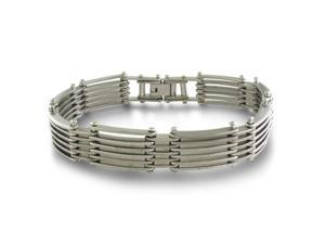 8 Inch Riveted Link Men's Stainless Steel Bracelet