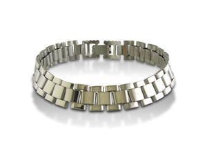 8-Inch Lightweight Men's Stainless Steel 25-Link Bracelet