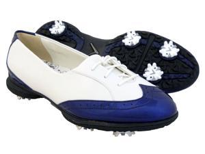 NEW Womens Callaway Rhiona W476 Waterproof Golf Shoes White/Navy 5.5 M