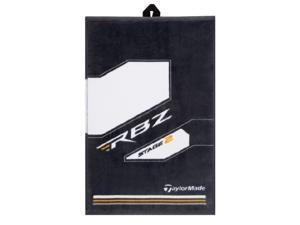 NEW TaylorMade RBZ Stage 2 Cart Towel for Golf Bag -Clean Clubs! White/Grey/Gold