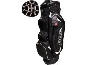 NEW Ogio Golf Shredder Cart Bag 15-way Uniter Top Charcoal / Black / Silver