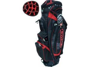 NEW Ogio Golf Shredder Cart Bag 15-way Uniter Top Charcoal / Black / Red