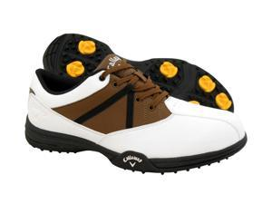 New Mens Callaway Chev Comfort M171 Waterproof Golf Shoes White/Brown Size 10 M