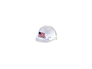 Msa Safety Works 10034263 United We Stand Hard Hat with Brim - White