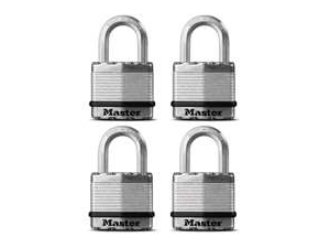 Master Lock M1XQ 1-3/4-Inch Laminated Steel Padlock with Ball Bearing Locking an
