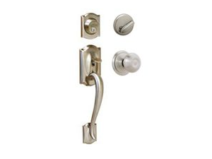 Schlage Lock F60VCAM/GEO619 Camelot/Georgian Two Piece Handle Set