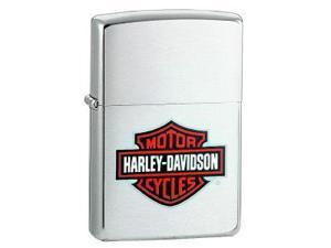 Zippo ZO13252 Harley-Davidson Lighter Harley Bar & Shield Brushed Chrome Ora