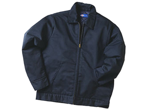 Dickies TJ15DNMED Navy Lined Eisenhower Jacket - Medium
