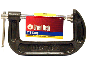 Great Neck Saw 4in. Adjustable C Clamps  CC4