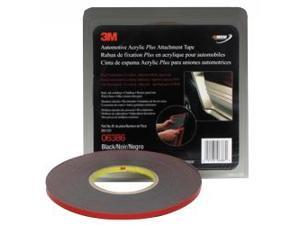 "3M Automotive Acrylic Plus Attachment Adhesive Tape 1/4"" x 20 yd - 1 Roll 06386"