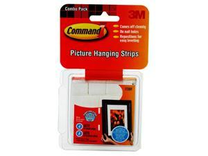 3M 17203 Command Small and Medium Picture Hanging Strips Value Pack