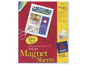 Avery 03270 5 Count White Magnet Sheets