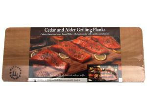 Natures Cuisine NC006 2 Count Cedar and 2 Count Alder 14 inch X 5.5 inch Grillin