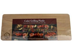 Natures Cuisine NC004-3 3 Count 14 inch X 5.5 inch Cedar Grilling Plank