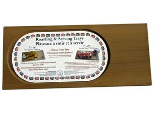 Natures Cuisine NC060 16 inch X 7 inch Cedar Roasting and Serving Tray
