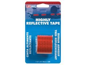 Incom Manufacturing RE804 1-1/2-in X 4 Red Highly Reflective Tape