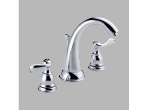 Delta B3596LF Foundations Windemere Chrome Two Handle Widespread Lavatory Faucet