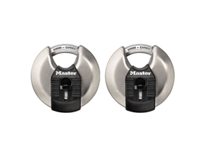 Master Lock M40XT 2-3/4-Inch Shrouded Steel Wide Body Padlock - 2-Pack