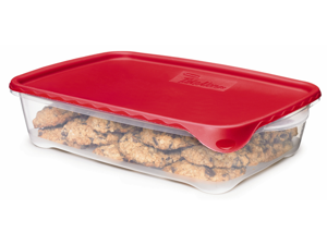 Rubbermaid 7A96RDCHILI 2-Piece Take Alongs Rectanuglar Container Set