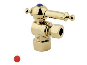 Kingston Brass CC43102TL 1/2 IPS 3/8 O.D. Compression Angle Shut-off Valve Polis