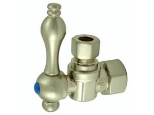 Kingston Brass CC43108 1/2 IPS 3/8 O.D. Compression Angle Shut-off Valve Satin N