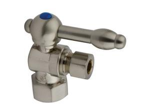 Kingston Brass CC43108KL 1/2 IPS 3/8 O.D. Compression Angle Shut-off Valve Satin