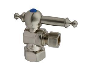 Kingston Brass CC43108TL 1/2 IPS 3/8 O.D. Compression Angle Shut-off Valve Satin