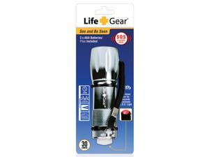 Life Gear LG540 Silver Mini Max Aluminum Flashlight & Flasher