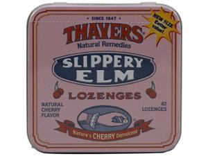 Thayers Slippery Elm Lozenges Cherry -- 42 Lozenges